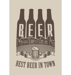 Best beer in town vector