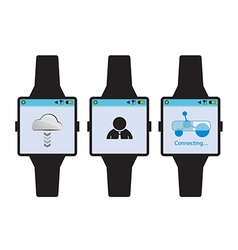 New generation smart watch concept vector