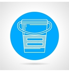 Flat round icon for meal replacement vector