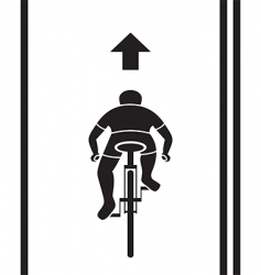 Bicycle path sign vector