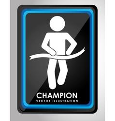 Champion design vector