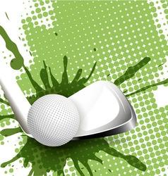 Golf tee-off vector