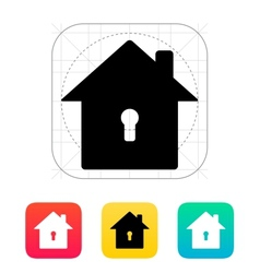 Abstract home with keyhole icon vector