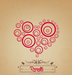 Valentines day with heart romantic vector