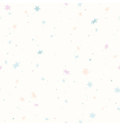 Seamless pattern with pastel color snowflakes star vector