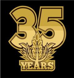 Laurelnew new 35 godina vector
