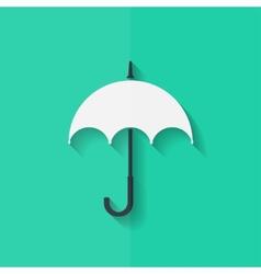 Umbrella icon flat design vector