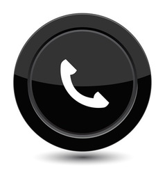 Button with phone vector