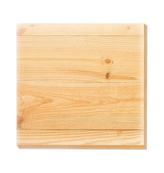 Wooden plate on a concrete background vector