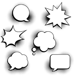 Set of speech bubbles in pop art style vector