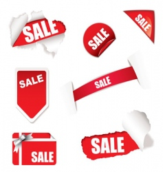 Shop sale elements vector