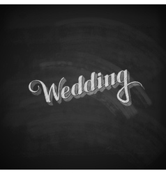 Chalk of handwritten wedding retro vector