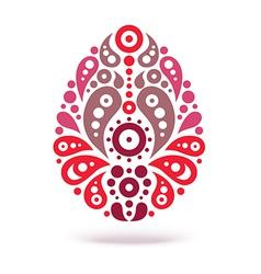 Ornamental floral decorative easter egg vector