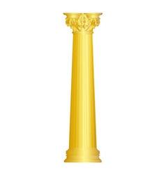 Classic ionic golden column vector