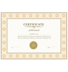 Red certificate vector
