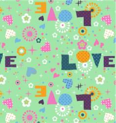 Cute seamless love vector