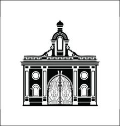 Black arch silhouette vector