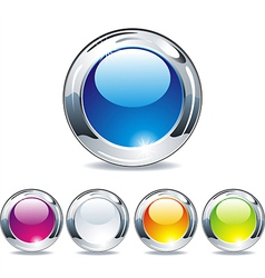 Web buttons for website or app vector