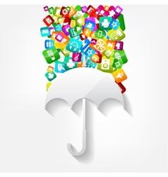 Application buttonsocial mediacloud computing vector