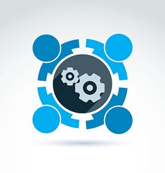 Gears - enterprise system theme organiza vector