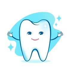 Healthy happy tooth character vector