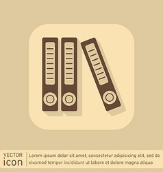 Office folders with papers and documents archives vector