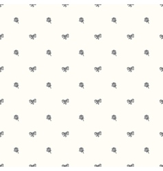 Seamless retro pattern with bow tie and ro vector