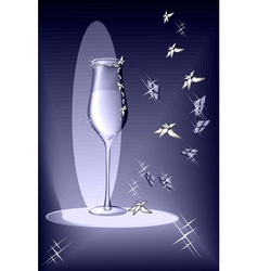 Evening glass vector