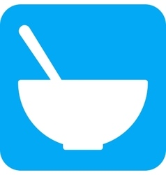 Soup bowl vector