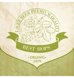 Ripe hops and leaves vector