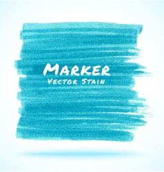 Blue light marker stain vector