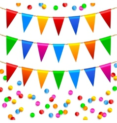 Colorful confetti pattern vector