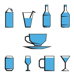 Beverages icon set vector