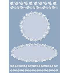 Vintage border and frame set vector