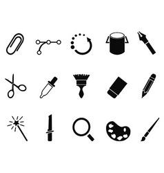 Graphic design tools icon set vector