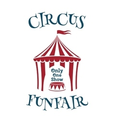 Simple template for circus funfair poster vector