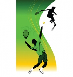 Tennis template vector