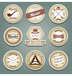 Hipster paper labels vector