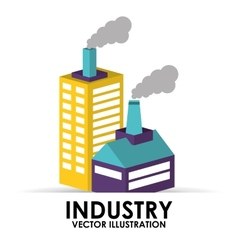 Industry building vector
