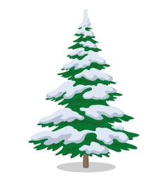 Christmas tree with snow vector