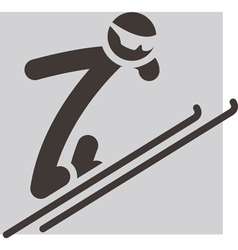 Ski jumping icon vector