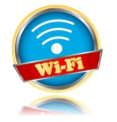 Blue wifi icon vector