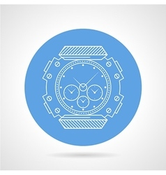 Flat round icon for diving wristwatch vector