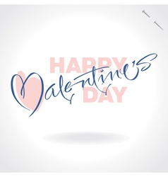 Valentines hand lettering vector
