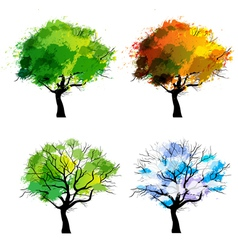 Trees of four seasons vector