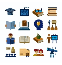 Higher education icons vector