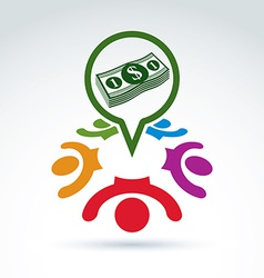 International business forum conceptual icon vector