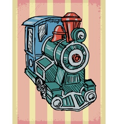 Vintage background with steam train vector