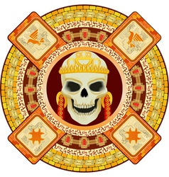 Aztec god of death vector