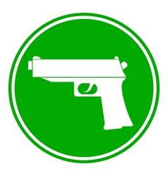 Gun button vector